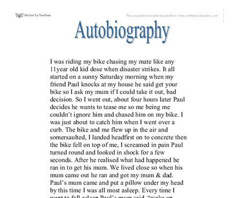 Educational Autobiography Essay by Autobiography Exles Exle Educational Autobiography