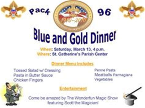 1000 Images About Cub Scout Blue And Gold On Pinterest Cub Scouts Banquet And Blue And Blue And Gold Banquet Program Template