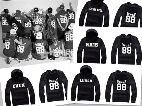 Glitter Kpop Exo 88 kpop exo wolf 88 luhan kris suho sweater hoodie jumper fashion new 11 99 picclick