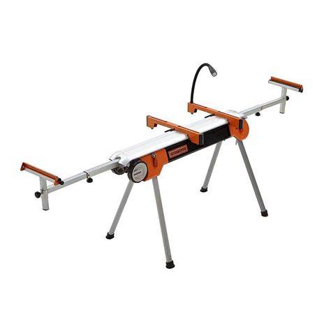 folding saw bench powertec deluxe miter saw stand with wheels and 110 volt