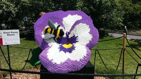 Landscape Arboretum Lego Pansy And Bee Lego Sculpture Yelp