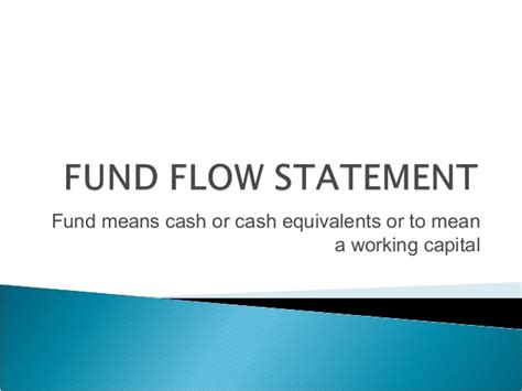 Flow Statement Ppt For Mba by Mybskool Live Class Ppt Fund Flow Statement