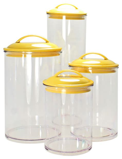 food canisters kitchen calypso basics 4 piece acrylic canister set contemporary