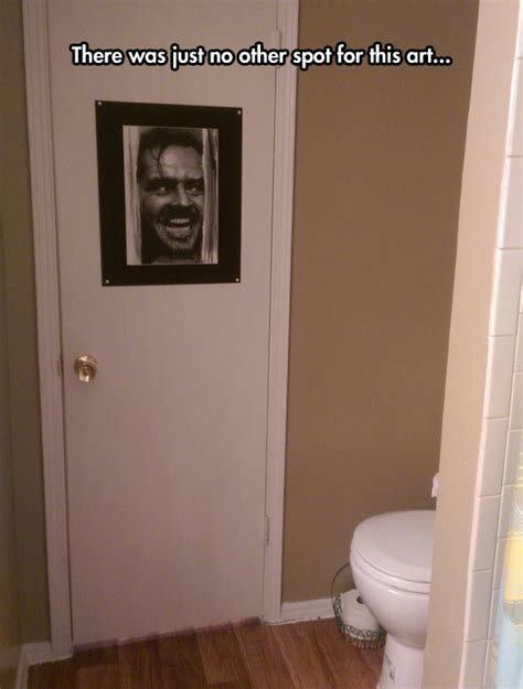 the shining bathroom the perfect picture for a bathroom door the meta picture