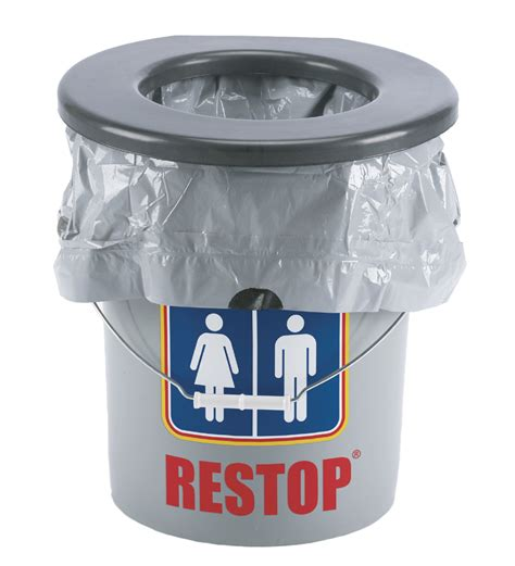 5 gallon with toilet seat lid restop 5 gallon portable toilet for cing biorelief
