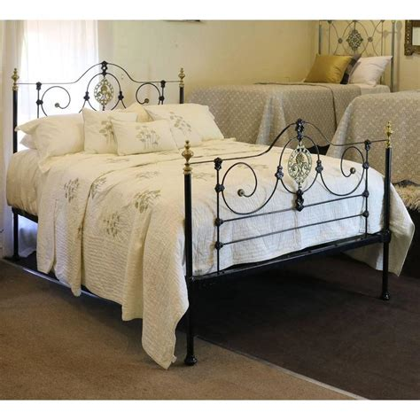 Cast Iron Bed In Black Mk105 For Sale At 1stdibs Black Cast Iron Bed Frame