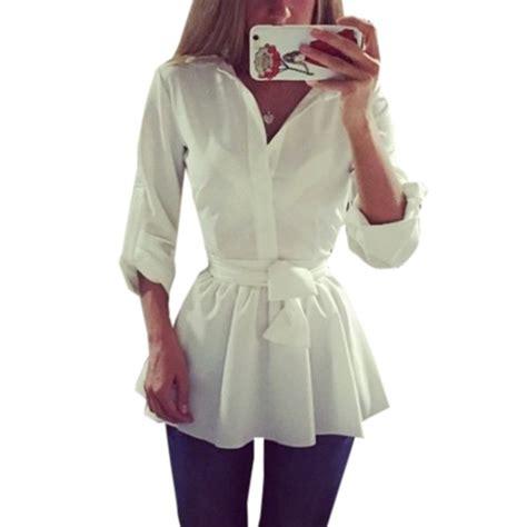 2017 fashion tunic shirt autumn turn