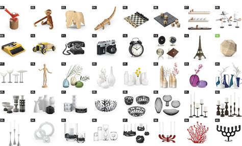 interior accessories model model released vol 08 interior accessories 3d