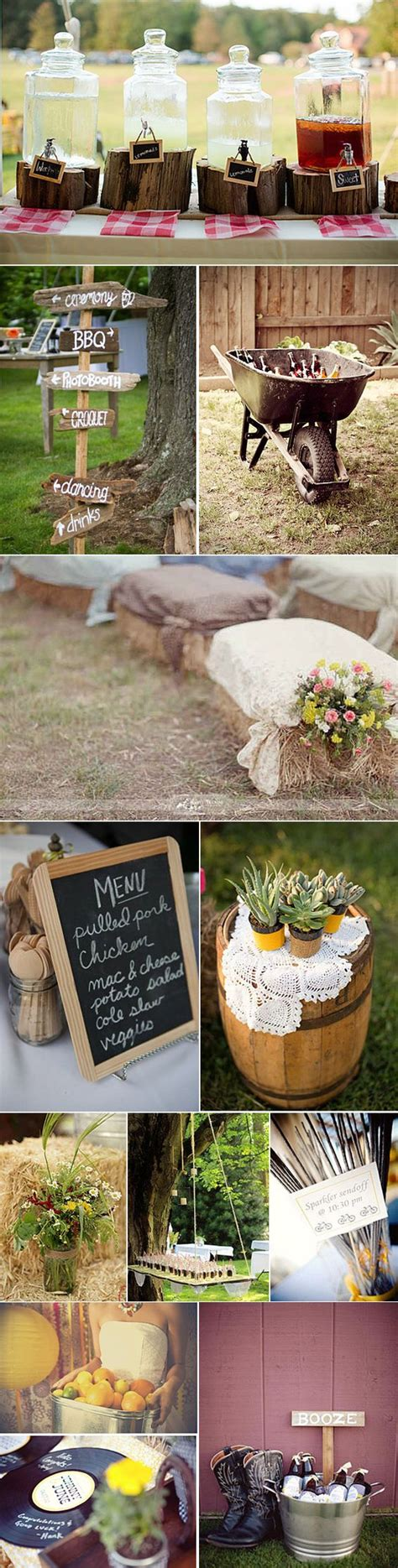backyard bbq wedding ideas 100 gorgeous country rustic wedding ideas details hi