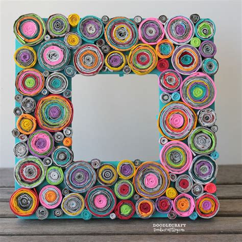 Paper Craft Frames - upcycled rolled paper frame