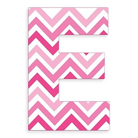 Bed Bath And Beyond Gift Registry Stupell Industries Tri Pink Chevron 18 Inch Hanging Letter