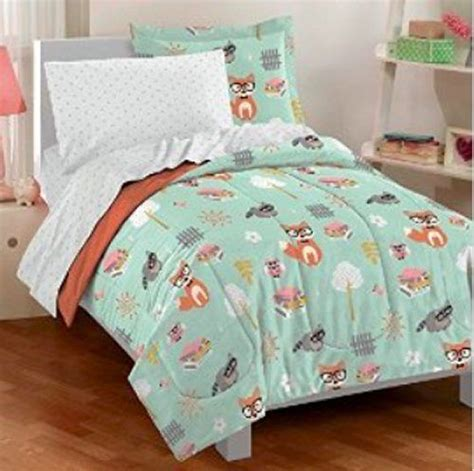 Fox Comforter by Childrens Forest Animals Fox Owl Racoon Bird 5p