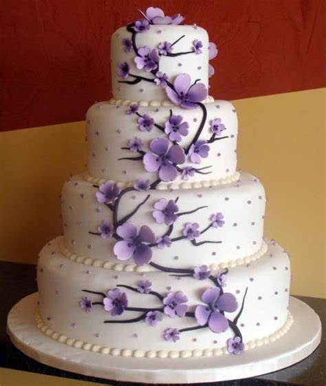 Hochzeitstorte Lila Blumen by Purple Themed Wedding Cake Let Them Eat Cake