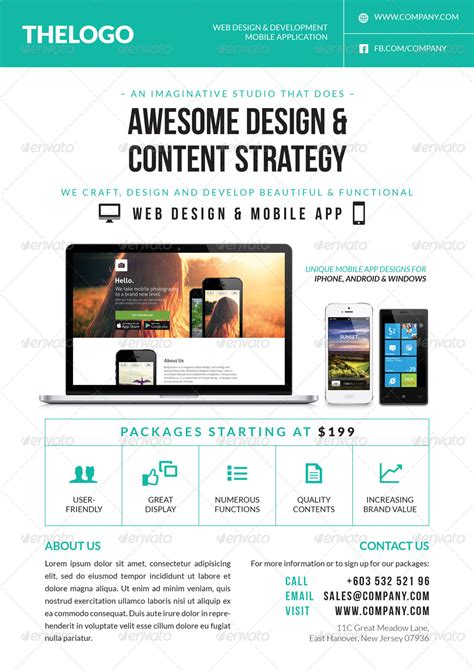 flyer design services digital web mobile design services flyer by artalic
