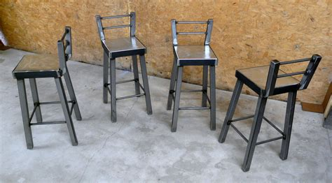 Industrial Metal Bar Stool Industrial Steel Bar Stool No 002 By Modernindustrial On Etsy