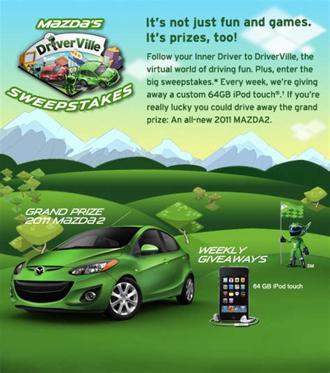 Mazda Sweepstakes - mazda introduces driverville game on facebook autoconverse com