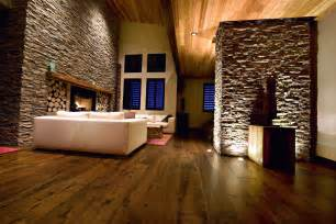 Dark hardwood floor for living room with white sofa and traditional