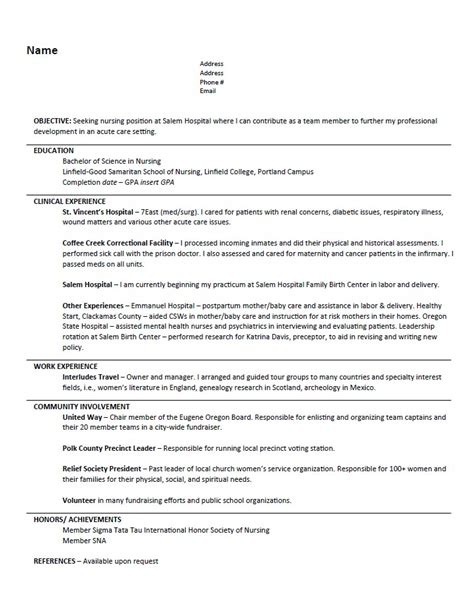 resume templates nurse resumes design