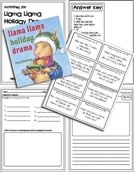 llama drama colouring for llama drama books 17 best images about llama llama activities on