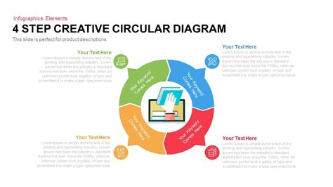 4 Step Creative Circular Diagram Powerpoint Keynote Creative Diagrams
