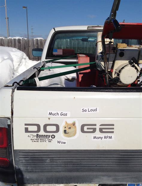 Doge Car Meme - irti funny picture 6530 tags dodge doge truck stickers wow