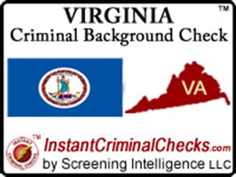 Background Check Va Virginia Criminal Background Checks For Pre Employment