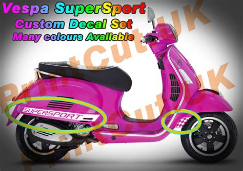 Aufkleber Vespa Lx 50 by Vespa Gts Super Sport Decal Sticker Kit Gt Custom Aftermarket