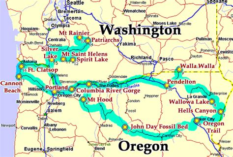 a map of oregon and washington map washington and oregon
