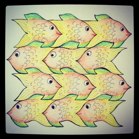 tessellation fish template the 52 week illustration challenge learn paper