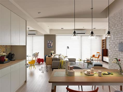 Kitchen Dining Room Design Layout Nordic Decor Inspiration In Two Colorful Homes