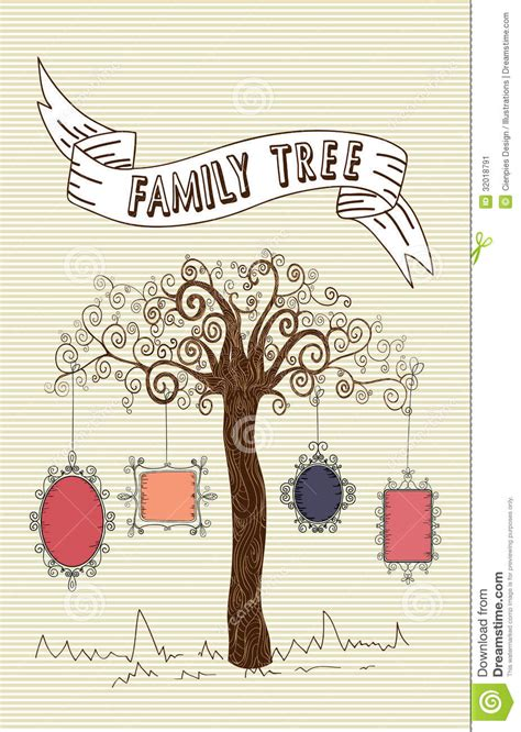 Vintage Family Frames Tree Stock Image Image 32018791 Family Tree Template Vintage Vector Illustration Stock Vector 397284052
