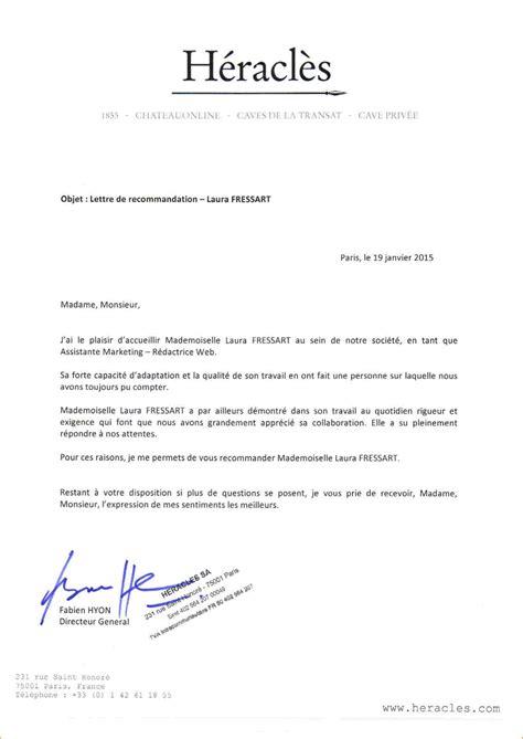 Lettre De Recommandation Vendeuse 10 Exemple Lettre De Recommandation Lettre De Demission