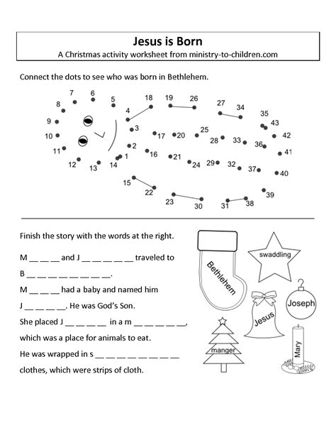 Jesus Worksheets For by 9 Best Images Of Birth To Preschool Worksheet Jesus