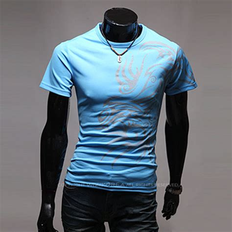 sell amart dragon tattoo round neck long sleeve t shirt new mens dragon tattoo t shirts round collar short sleeves