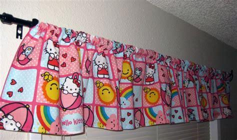 hello kitty bedroom curtains hello kitty pink blue rainbow curtain valance for girl s