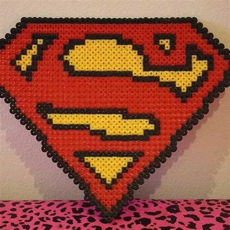 perler superman superman logo perler by scarletsparkle