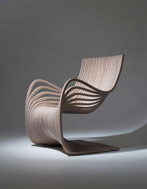 contemporary chair design wooden chair showing movement and material conscious design