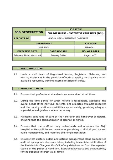 icu description resume 28 images professional icu rn