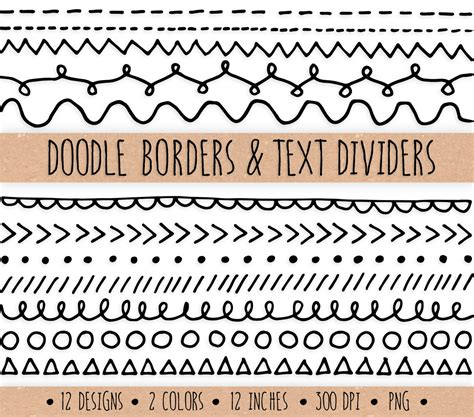 how to draw doodle borders doodle borders and text dividers digital doodle