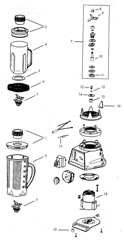 vitamix parts diagram blender c