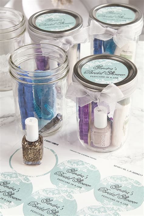 Jar Bridal Shower Favors by Pedicure In A Jar Bridal Shower Favors Weddings Ideas From Evermine