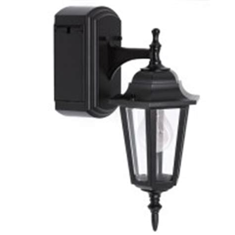 Reversible Wall Lantern With Built In Electrical Outlet Outdoor Light Fixture With Power Outlet