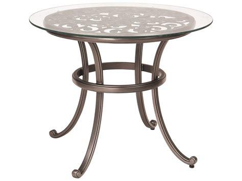 patio table tops woodard new orleans cast aluminum 36 glass top
