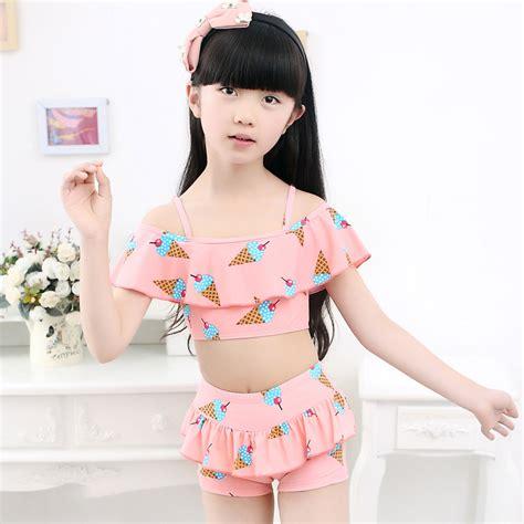 little girl 2016 bathing suits 2016 ice cream toddler girl swimsuits tankini swimwear