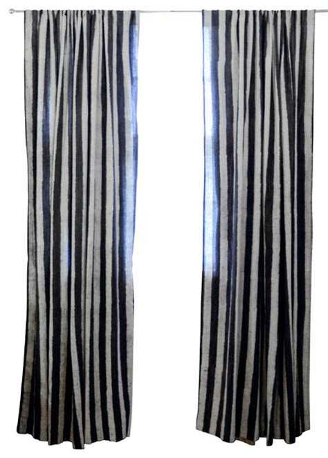 charcoal and white curtains charcoal stripe window curtain 84 quot contemporary