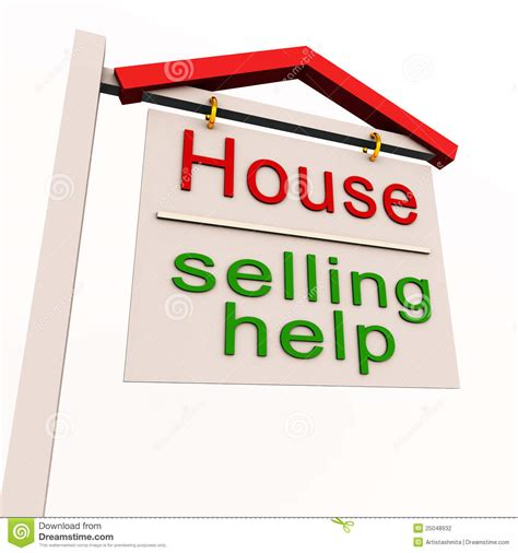 help selling house house selling help label stock photography image 25048932