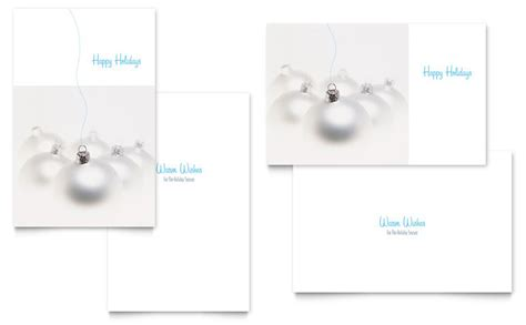 Greeting Card Templates Microsoft Publisher 2010 by Silver Ornaments Greeting Card Template Word Publisher