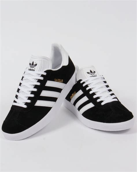 black and white patterned adidas trainers adidas gazelle trainers black white originals shoes mens