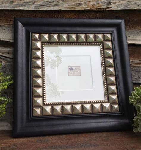 10 x 10 mat opening black and silver square frame with mat 10 x 10 or 6 x 6