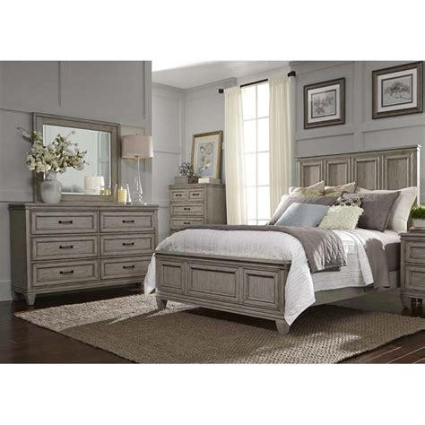 Liberty King Bedroom Set by Liberty Furniture Grayton Grove 4 King Panel Bedroom